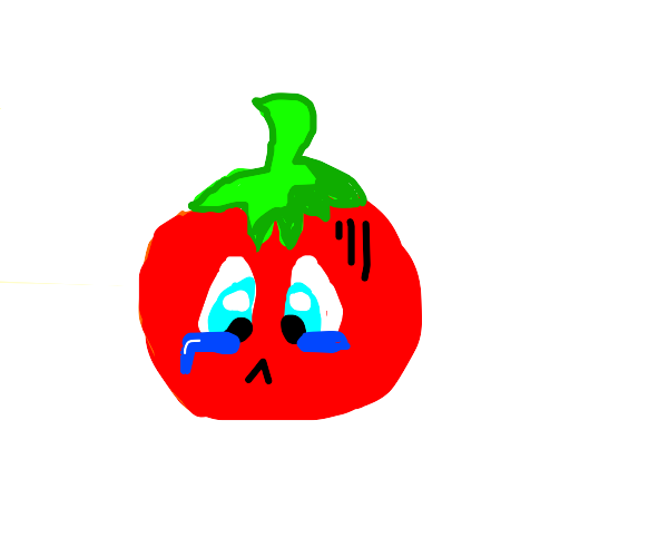 sad face tomato
