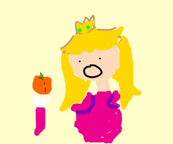 Princess Peach Eats a Peach