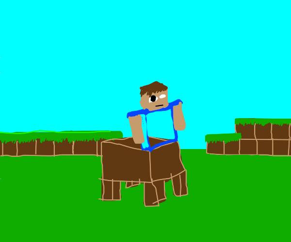 Minecraft Steve x Minotaur