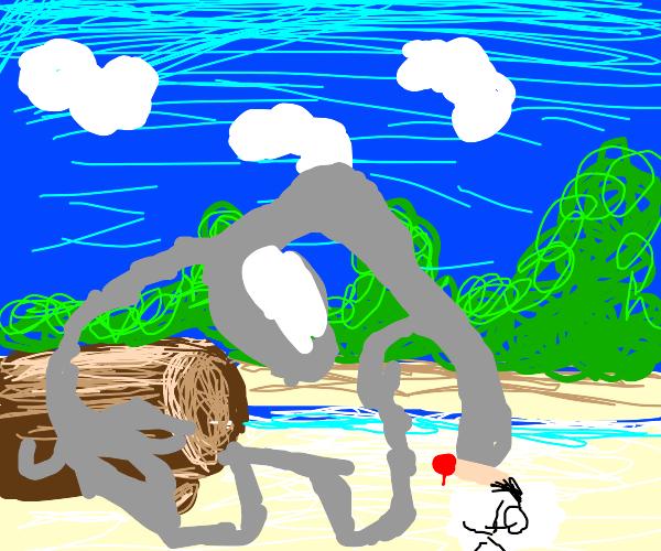elephant sketching