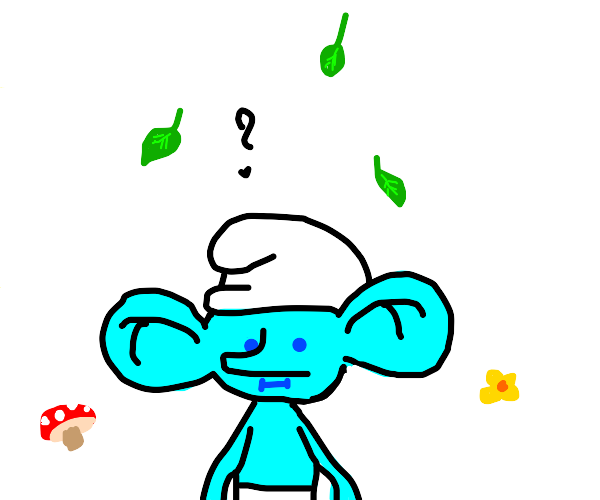 Confused smurf