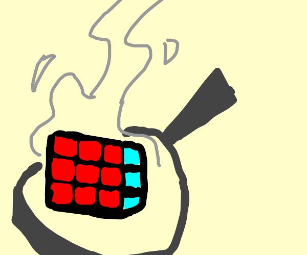 Frying a rubiks cube