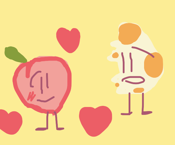 Peach falls in love with half digested egg