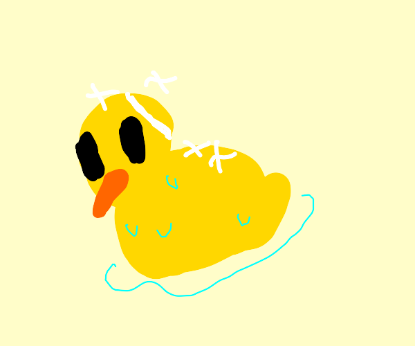 shiny rubber duck