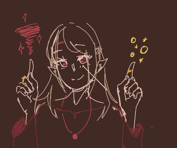 """Anime elf girl is magic"""