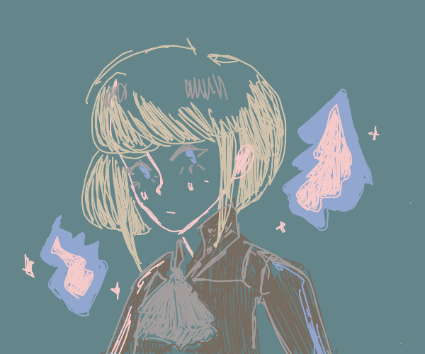 Anime character emitting magic