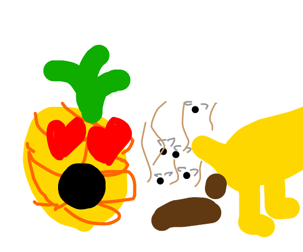 pineapple falls in love with dog poop.