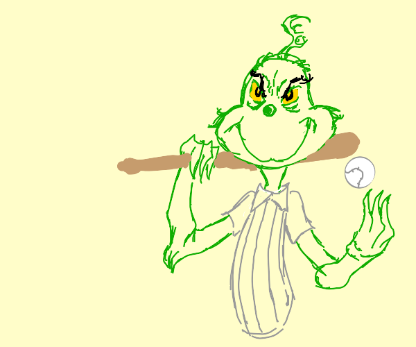 the grinch plays baseball