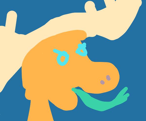 Sad moose monster