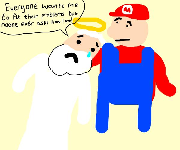 God cries on Mario