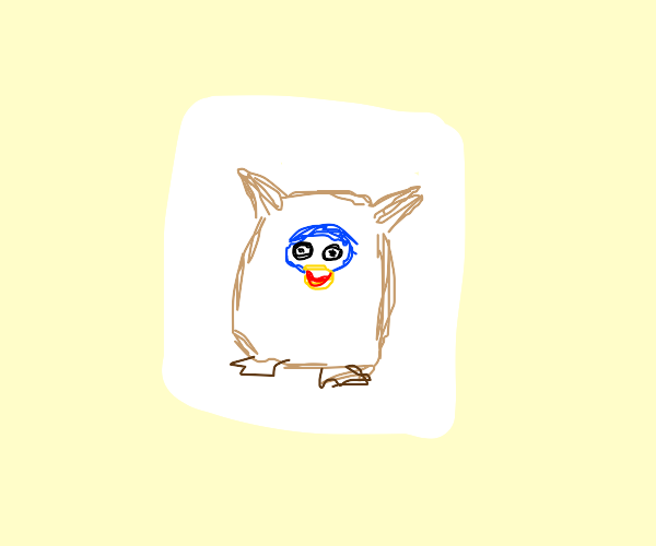 Drawing of a furby