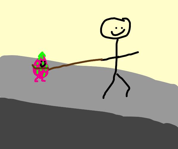 Walking a Dragon Fruit