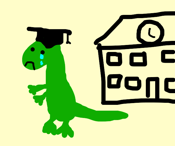 Big lizard teacher leaves school crying