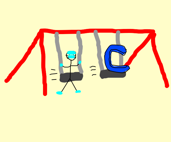 surgeon swinging on swings... + c