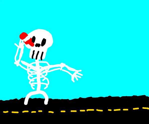 Skeleton Drinks Hot SAUCE