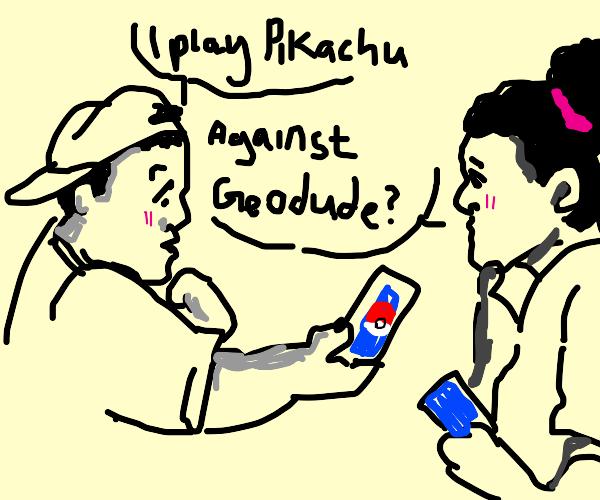 Playing pokemoncards
