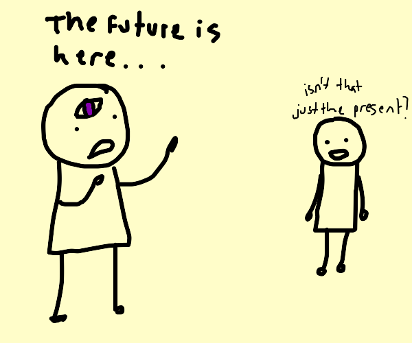 The distant future is here...