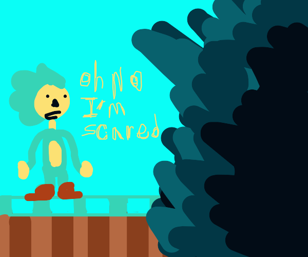 Sonic is scared of the dark