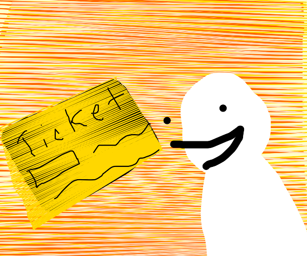 Man is happy about golden ticket