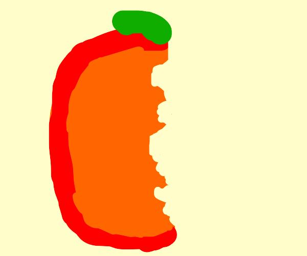 half a peach