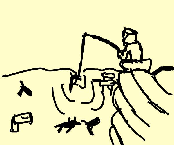 Fishing for a Gun