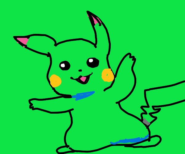The discoloration of Pikachu