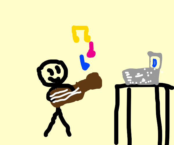Musician playing Drawception
