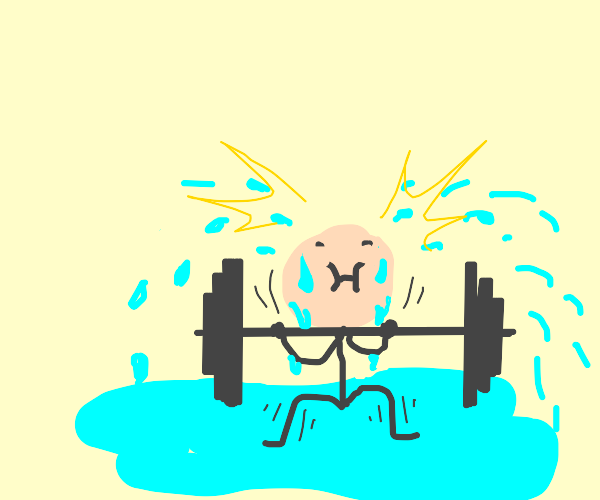 very very very very very sweaty weightlifter