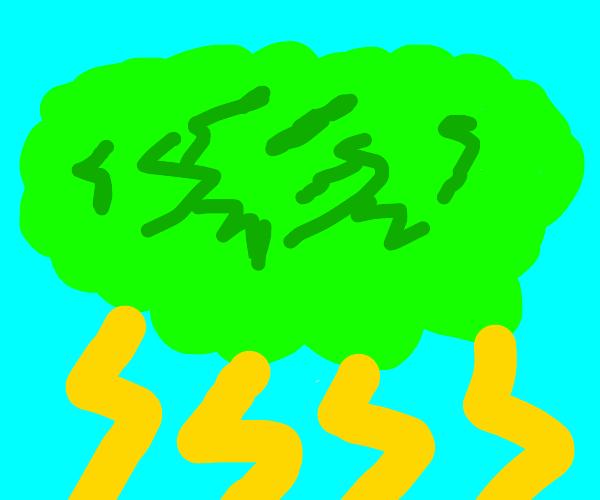 electric green cloud