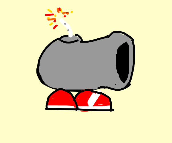 Cannon wearing Shoes