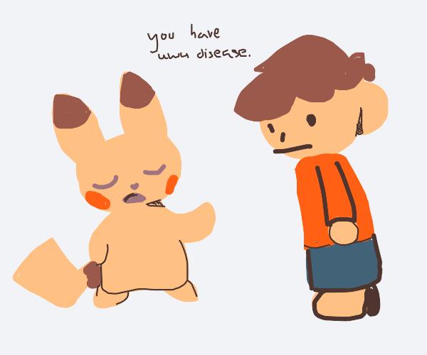 A pokemon diagnosis a boy with uwu disease