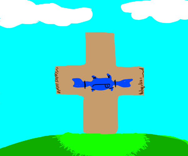 Blue crab Christ suffers for our sins