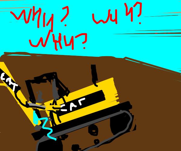 Sad caterpillar underground