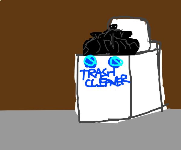 Washing machine/trash can hybrid