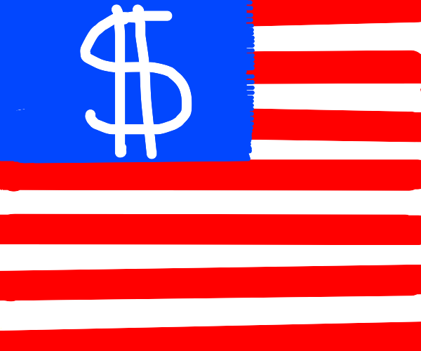 The flag of the country of money