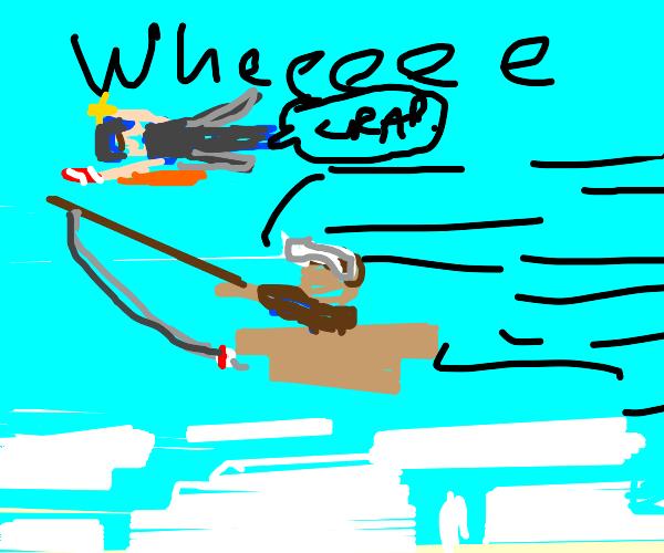 minecart and fishing rod glitch