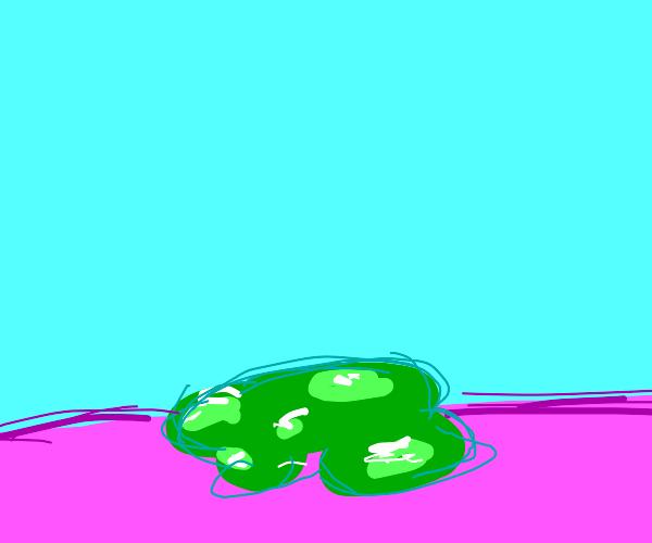 A puddle of sludge
