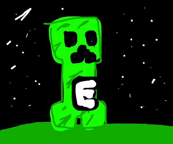 """Markiplier """"E"""" but as a creeper in minecraft"""