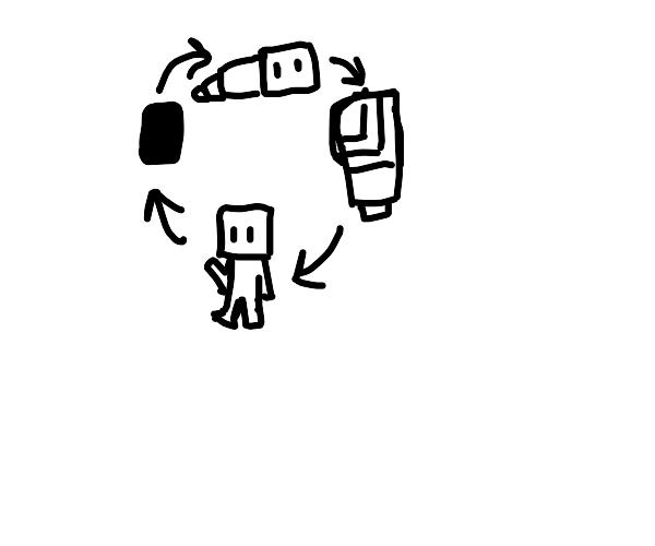 A Blockhead Cycles