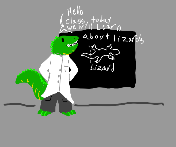 teaching about lizards to kids