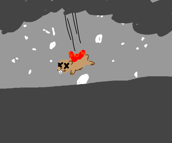 Hamster in a Hailstorm