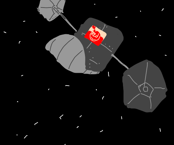 a satellite in the shape of a boot