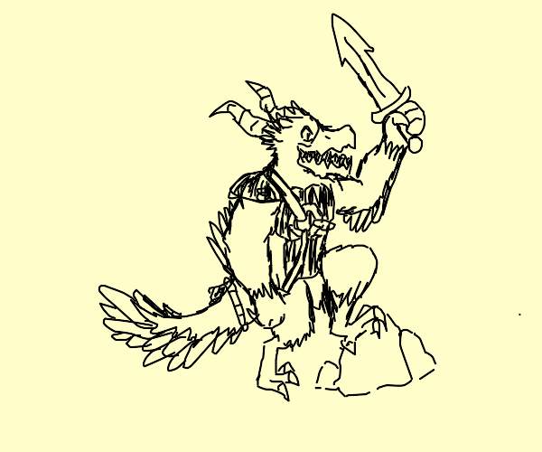 Draconic Bird warrior