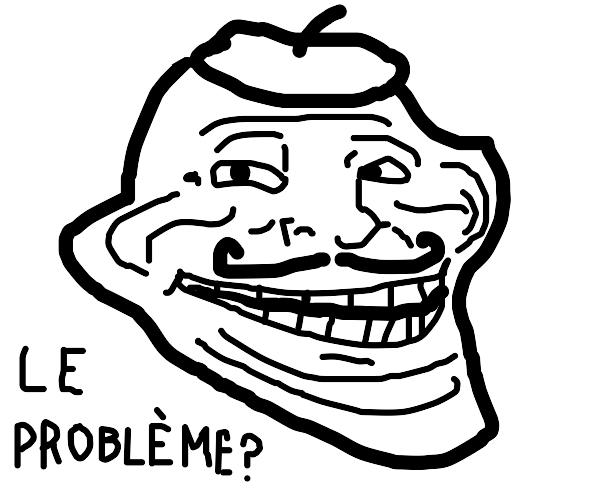 French troll face