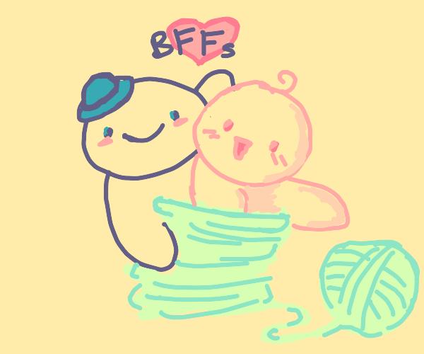 Very close-knit friends