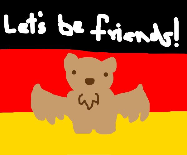 brown german bat wants to be friends