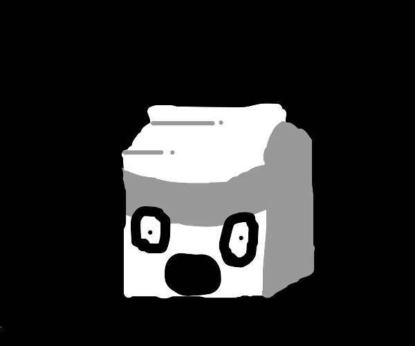 Terrified sentient milk carton