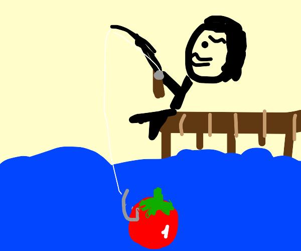 fishin a tomato