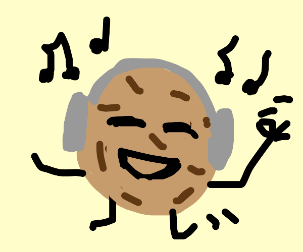 cookie listening to music