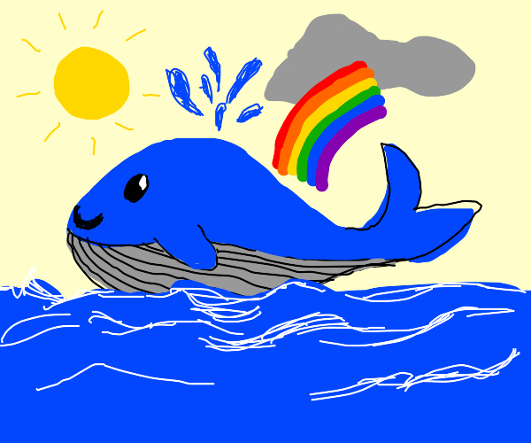 blue whale crossing